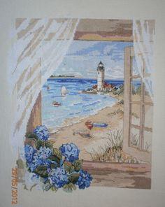 Solo Patrones Punto Cruz View of Lighthouse Más