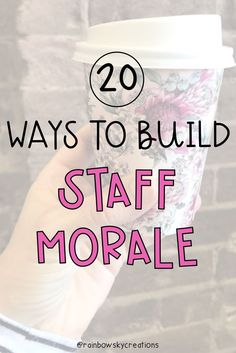 Ways to support Staff morale and teacher wellbeing. Here are 20 ways of our favourite ways to support staff wellbeing, build morale and overall have fun as a teaching team at school. Teacher Morale, Employee Morale, Staff Morale, Team Morale, Employee Gifts, School Leadership, Educational Leadership, Staff Appreciation Gifts, Staff Gifts