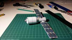Tianzhou 1, 1:144 paper model