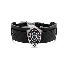 Barbados - Silver Ruby Crest Bracer #topazusa #robertobravo #inspiring #jewelry #silver #bracelets #mens