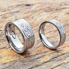 The Effective Pictures We Offer You About irish wedding rings claddagh A quality picture can tell yo Irish Wedding Rings, Silver Wedding Bands, Tungsten Wedding Bands, Diamond Wedding Rings, Tungsten Rings, Tungsten Carbide, Celtic Knot Ring, Celtic Rings, Infinity Ring