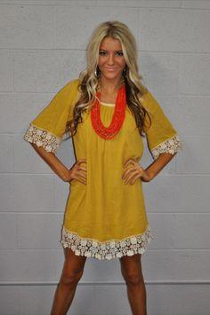 Modern Vintage Boutique - Lemon Drop and Lace Dress, $48.00 (http://www.modernvintageboutique.com/lemon-drop-and-lace-dress.html)