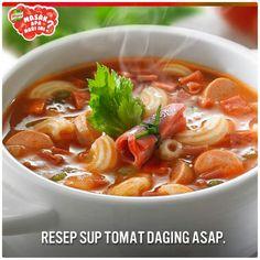 Tomato soup with smokedbeef
