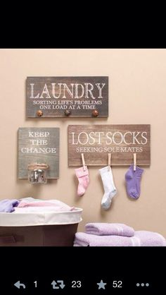 Good ideas for utility room!                                                                                                                                                     More
