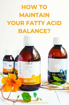 Find out what a fatty acid balance is, why it's so important for your overall well-being and how you can easily and safely achieve balance Home Remedies, Delicious Blog, Nutrition, Oil, Bottle, Healthy Living, Base, Queen, Flask