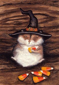 """Hamster Halloween Candy Corn"" par AmyLyn Bihrle"