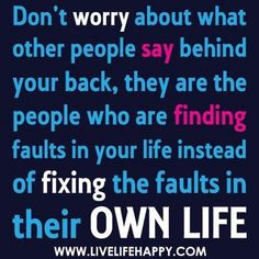 Live your own life!