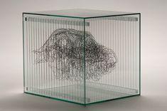 Galileo Feynman: The Layered Glass Artwork of Angela Palmer Glass Artwork, 3d Artwork, Steel Sculpture, Sculpture Art, Lightbox Art, Drawing Projects, Drawing Tips, Digital Painting Tutorials, National Portrait Gallery