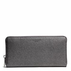Coach :: ACCORDION ZIP WALLET IN SAFFIANO LEATHER. Gun metal. But any of coach's zip wallets are good!