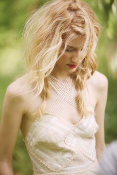 Love the loose braids and waves! Perfect for a boho wedding.