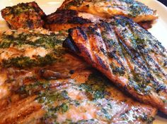 Best Grilled Salmon Recipe - Pesto Infused, via YouTube.
