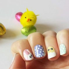 Love the adorable bunny and polka dots !