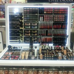 Just a little sneak peek at part of our Lancome counter at Mistrys #mistrys #mistrysbeauty #lancome