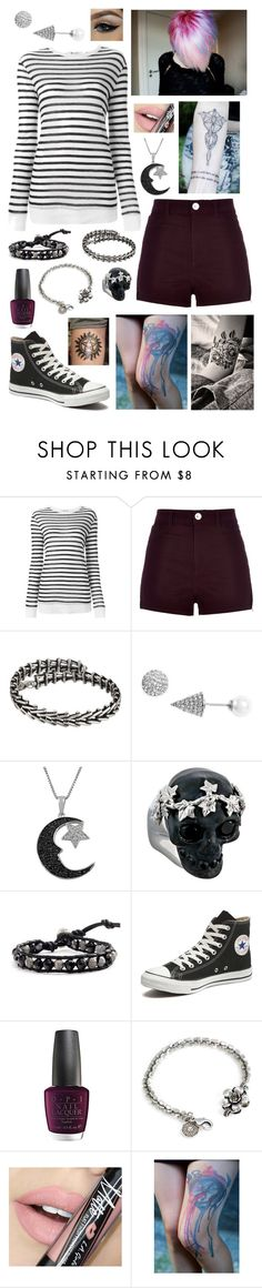 """Untitled #792"" by lilysskeleton ❤ liked on Polyvore featuring Alexander Wang, River Island, Alex and Ani, Nadri, Jewel Exclusive, Duffy, Alexander McQueen, Chan Luu, Converse and OPI"