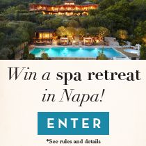 Relax in Napa! Prize includes: roundtrip airfare for 2, 3 nights at Auberge du Soleil, $1,000 curated gift basket from Abe's market, spa treatments, wine tastings and more. Sit back and relax+ enter now: tastingtable.com/napa2014