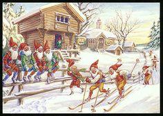 Julkort av Curt Nyström