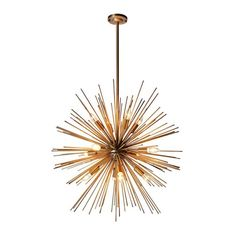 Houseology Collection Burst Ceiling Pendant Light Gold