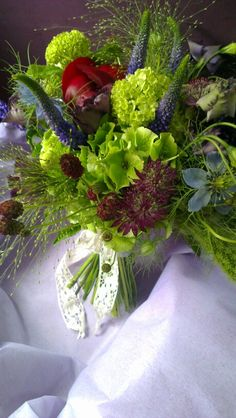 Woodland charm peony handtied bridal bouquet by Enchanted Florals.