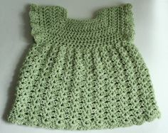 Cute baby dress, hat, shoes & soaker cover, size 0-3 months. Very easy to make and customize.