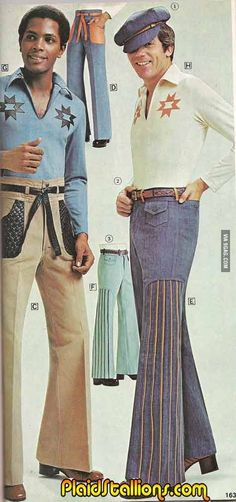 I know women complain about how men dress today, but at least we don't have to deal with this.