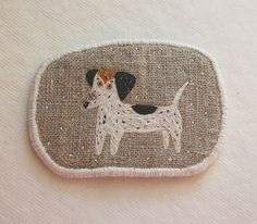 Brooch - Lady Dachshund -  Funny Dogs - collection, hand embroidered
