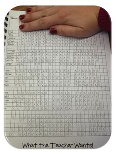 Class Sight Word Tracker - Use a class grid to keep track of who knows what sight words.