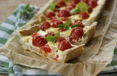 Crostata con pomodorini e ricotta