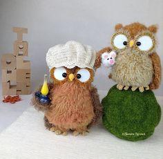 Frischgebackene Eule Gabilette und Eule Bonnette sind im Moment unterwegs  nach der Schweiz ✈️ #mywork #mydesign #crochet #yarnaddict #bonnet #customorder #civetta #lechuza #owls #eulen #crochetlove