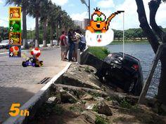 MARIO KART Mario Kart Ds, Super Mario Kart, Mortal Kombat, Vida Real, Memes, Street View, Lol, Humor, Funny