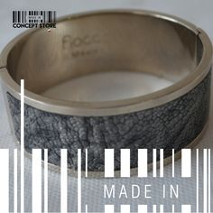 Grey & silver texture by MADE IN designers. #Bracelet #ConceptStore #Boutique #MexicanDesign