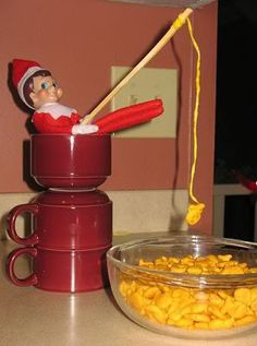 Elf on the Shelf fishing