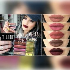 MILANI Amore Matte Lip Crème SWATCHES REVIEW 💄✨ 💁Share your looks to be featured . . #befreetomakeup #vegas_nay #hudabeauty #contour#highlight #makeupvlogger #beautyblogger #makeupaddiction #makeupdxx #tasteformakeup #lifeofamakeupartist #makeupartist #youtuber #beauty #undiscovered_muas #universodamaquiagem_oficial #metalliclips #kyliejenner #amrezy #anastasiabeverlyhills #fallmakeup #glamorousmakeup #sultrymakeup #makeuplove #makeuplover #makeuplove #makeupjunkie #motd #fotd #mua