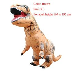 Good Adult T-rex Inflatable Costume Christmas Cosplay Dinosaur Animal Jumpsuit Halloween Costume For Women Men To Win Warm Praise From Customers Costume Props Novelty & Special Use