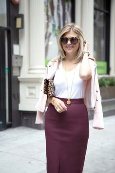 Pink and Bordeaux/Marsala (Aka burgundy) ~Winter color block #monochromatic