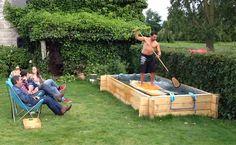 Vidéo insolite, faire du Stand up paddle dans son jardin ! : )
