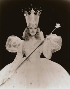 "Billie Burke Lab Photo Glinda The Good Witch Wand by Bull""Wizard of Oz"" Glenda The Good Witch, Billy Burke, Wizard Of Oz 1939, Witch Wand, Land Of Oz, The Worst Witch, Yellow Brick Road, Judy Garland, Over The Rainbow"