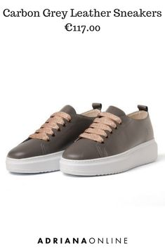 Great news for all sneakers fans: They are everywhere this fall season! Wear them for a day or night and make sure they are bought at AdrianaOnline ; Sporty Outfits, Sporty Style, Fall Season, Grey Leather, Leather Sneakers, Trainers, Fans, Footwear, Clothes For Women