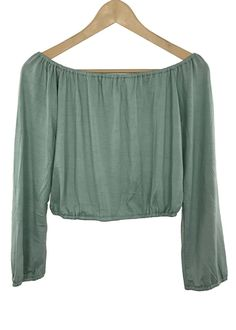 destiny off-the shoulder crop top (seafoam pearl)