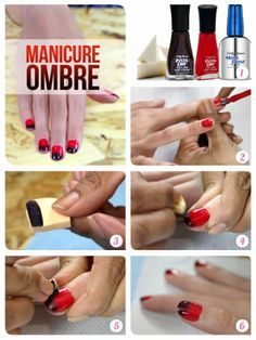 Manicure Ombre nails #nails #manicure #nailart #tutorial #uñas #actitudfem