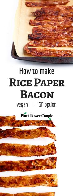 This rice paper bacon is so easy and fun to make! It requires simple pantry ingredients you can keep on hand for whenever that smoky-salty-sweet craving strikes. It can easily be made gluten-free and tastes shockingly like the bacon we grew up eating! Rice Paper Recipes, Recipe Paper, Vegan Brunch Recipes, Bacon Recipes, Vegetarian Bacon, Vegetarian Recipes, Cheat Meal, Coconut Bacon, Vegetable Curry