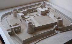 Al Buraimi Fort,Maqueta cemento.