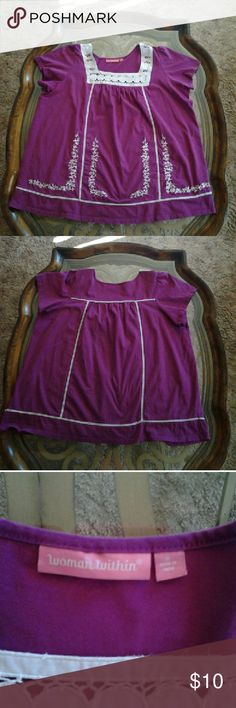 ■■SALE■■ Woman Within sz 1X Women's shirt Woman Within size 1X Women's shirt 》 BUNDLE  》 OFFER  》 ASK QUESTIONS  HAPPY TO HELP !!! Woman Within  Tops Blouses