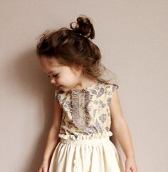Wedding Ideas: flower-girl-dress-purple-cream