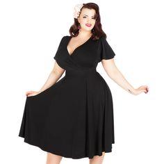Lady Voluptuous Lyra Dress - Black