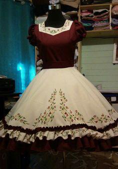 Modelos.de vestidos de guasa Square Dance, Kids Frocks, Vintage Outfits, Painting, Clothes, Dresses, Style, Fashion, Templates
