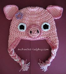 Ravelry: Crochet Pig Earflap Baby Hat pattern by The Enchanted Ladybug