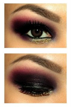 Rocker chic - Eyeshadow. I really like the gold. #makeup