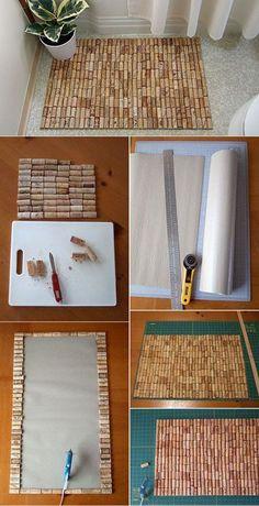 Como Fazer Tapete para Banheiro com Rolhas de Cortiça