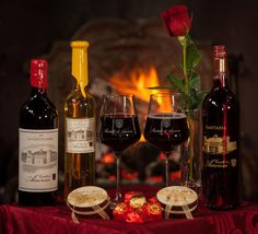 """Romantic evening with wines and chocolates from the """"castle of love"""""""