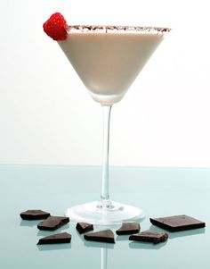 Raspberry Chocolate Cheesecake Martini